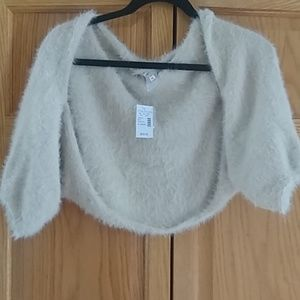 Maurices pale pink/beige shrug!